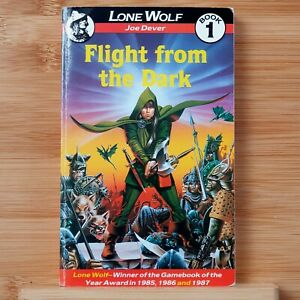 Lone Wolf Book 1 - Flight From The Dark by Joe Dever. 1987 edition.