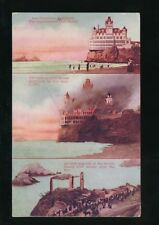 USA California SAN FRANSISCO Cliff House fire tri-view used c1907 PPC