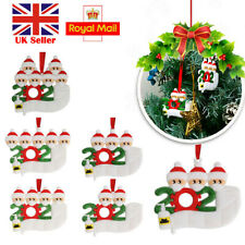 2 heads Christmas Tree Ornament 2020 Quarantine Family Xmas Lockdown Decoration