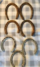 Antique Horseshoes Lot of 7 Steel Rusted Repurpose