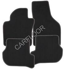 Für Ford S-Max ab 01.2016 Fußmatten Velours schwarz mit Doppelnaht rot-weiß
