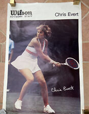 Vintage Rare Chris Evert Poster Wilson Advisory Staff Photo Norm Classen