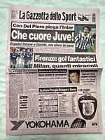 GAZZETTA DELLO SPORT 26 10 1998 JUVENTUS - INTER 1-0 SERIE A OTTOBRE DEL PIERO