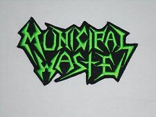 MUNICIPAL WASTE IRON ON EMBROIDERED PATCH