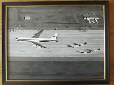 Vintage Airplane photograph framed CFB Trenton first 707 CC137 April 10 1970