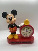 RARE VINTAGE WALT DISNEY MICKEY MOUSE ALARM CLOCK LORUS (untested)