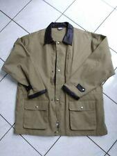 New Vintage Mens Marlboro Tan Canvas Jacket Coat Cowboy Brown Leather Collar XL