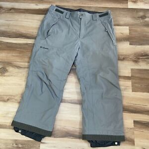 Columbia Men's Omni Tech Gray Waterproof Ski Snow Pants Size XL