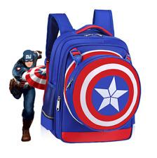 Captain America blue backpack school bag Travel shoulder bag anime bags new