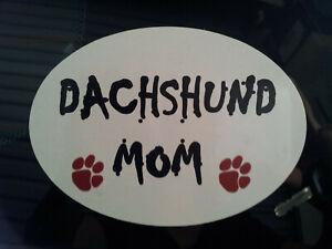 Dachshund Mom Car Sticker, Decal