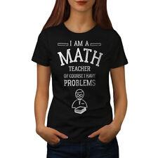 Wellcoda Math Teacher Job Womens T-shirt, Funny Text Casual Design Printed Tee