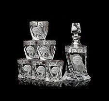 Whisky Set, Bohemia Kristall, Handgemalt, Hersteller Tschechischen Republik, Neu