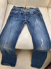 """Womens BKE """"Starlite�?Medium Wash Destroyed Boot Cut Denim Jeans 26 X 33.5"""