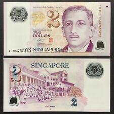 2011 SINGAPORE 2 DOLLARS POLYMER P-46c UNC> > > > > > > >W/1 TRIANGLE EDUCATION