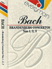 BACH BRANDENBURG 1 2 3 EVERYMAN CASSETTE ALBUM Gabor Ötvös Hamburger Symphoniker