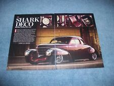 "1938 Graham Model 97 Coupe Custom Street Rod Article ""Shark Deco"""