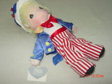 Vintage Precious Moments Uncle Sam 1986 Tags #4581 Old Patriot Boy Doll Flag Hat
