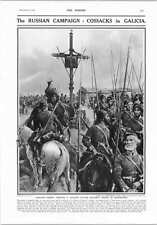 1914 Russian Army In Galicia Cossacks Full Dress Passing National School