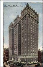 New York USA vintage postcard 1922 Hotel Vanderbilt street view Hochhaus