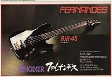 1988 THE REVOLOVER PJR-45 FERNANDES BASS GUITAR AD