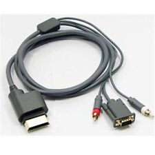 Component HD AV VGA Monitor Cable Lead for XBOX 360