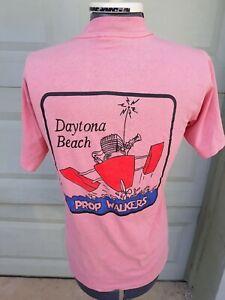 Vtg Daytona Beach FL Florida Prop Propeller Water Walkers 80s Pink T-Shirt Med
