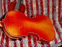 ANTIQUE J A BAADER VIOLIN DATED 1910 MITTENWALD GERMANY 4/4 SIZE