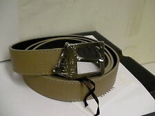Versace collection belt size 85/100 genuine leather made in Italy beige color