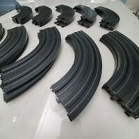 """Lot of 40 - Life-Like Racing 9"""" Curve Track Sections - HO Slot Car Parts"""
