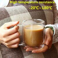 300ml Termoresistente Vetro Trasparente Tazza Caffè Tè Drink Mug Doppio Strato%