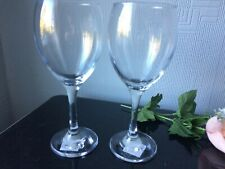 Large Clear Red Wine Glasses Balloons Set of 2 Drinking Cups 300ml