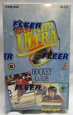 1992-93 Fleer ULTRA Premiere Edition Factory-Sealed NHL Hockey Hobby Box