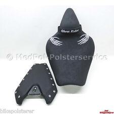 Kawasaki Z1000 Komfort Sitzbank: Gel-Einlage, Lendenstütze, Stick und Gurt