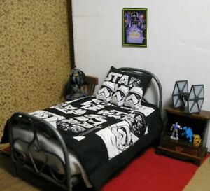 1:12 scale Star Wars themed twin bed set LesBonArts