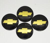 4Pcs Black 56.5mm Car Wheel Center Hub Cap Badge Emblem Sticker Fits Chevrolet