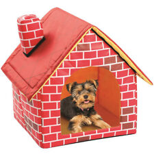 Chimney Brick House Shaped Pet Kennel Cat Play Tent House for Cats Small Dogs