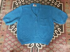 Vintage urban outfitters blue slubby short sleeve jumper top Medium