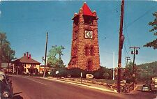 B26/ North Hempstead Long Island New York NY Postcard 1953 Chrome Clock Tower