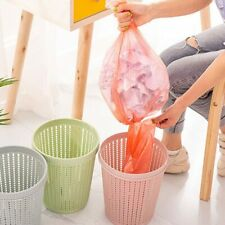 Bag Changing Rubbish Bin Plastic Trash Bucket Kitchen Home Debris Storage Hollow