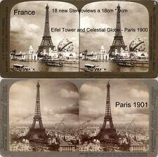 18 Stereoviews di Parigi, Lot 5, France Francia a partire dal 1900, Eiffel Tower Eiffel