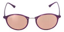 Ray Ban Unisex Purple Frame Copper Mirror Round Lens Sunglasses 4242 60342Y
