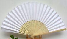 100 ventagli ventaglio legno bambù e carta bianchi matrimonio wedding sposa