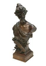 Hans Muller (Austrian 1873 - 1937) Patinated Bronze Sculpture, Diana. circa 1900