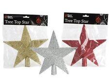 Decorazioni in argento a stella per albero di Natale