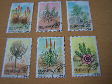 ZIMBABWE FLOWERS SET,6 VALS,F/USED.EXCELLENT.