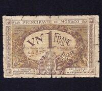 Monaco 1 Franc 1920  *SERIAL  C *   P-4b