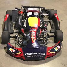 USED TECHSPEED GO KART RACING CHASSIS WITH 125CC ROTAX EVO ENGINE - MIAMI AREA