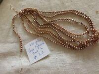 lot 470 rare perle ancienne de passementerie de perles  en verre églomisé doré
