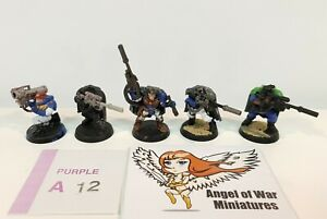40K Space Marines Scouts w/ Sniper Rifles & Missile Launcher (x5) PA12