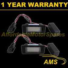 2X FOR PORSCHE PANAMERA 2010 On 24 WHITE LED NUMBER PLATE LIGHT LAMPS